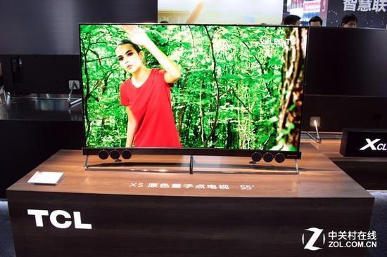 TCL展出55英寸X5原色量子点电视