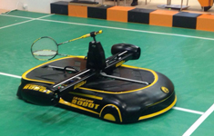 打羽毛球的智能机器人