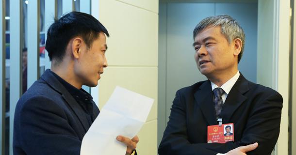 蔡继明代表接受中国经济网记者专访