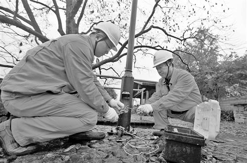 11月18日,国网宁波供电公司工作人员,来到余姚梁弄镇让贤村,对该村电网改造建设的最后一公里5千伏高压线开始移位作业。近年来,各地供电公司以多种方式推进农村电网建设精益化、智能化水平,保障了基层安全、稳定用电。王幕宾摄   近日,由经济日报社中国经济趋势研究院、国家统计局中国经济景气监测中心联合发布的中经电力产业景气指数报告(2016年三季度)显示,我国电力行业发电量同比增长继续加快。其中,非化石能源发电占比较高,显示我国电力能源结构进一步优化。   非化石能源占比提升   近年来,随着经济增长速