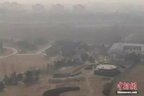 北京的雾霾天气(资料图)。 <a target='_blank' href='http://www.chinanews.com/' _fcksavedurl='http://www.chinanews.com/'></p></table>中新社</a><p>  记者 崔楠 摄