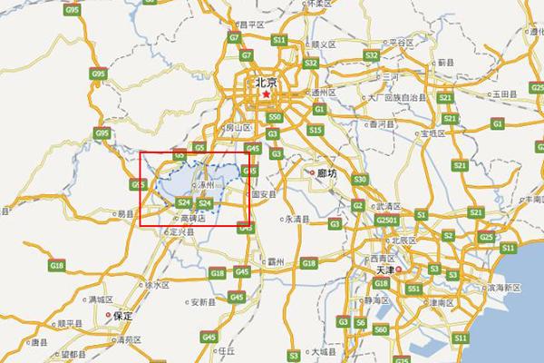 北京到河北燕郊地图