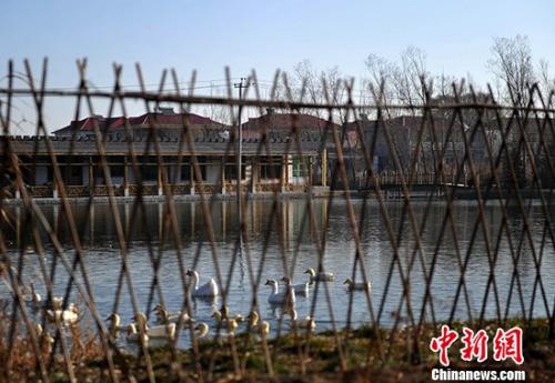 资料图:河北省安新县的一个村庄。<a target='_blank' href='http://www.chinanews.com/' _fcksavedurl='http://www.chinanews.com/'></table>中新社</a>记者 翟羽佳 摄