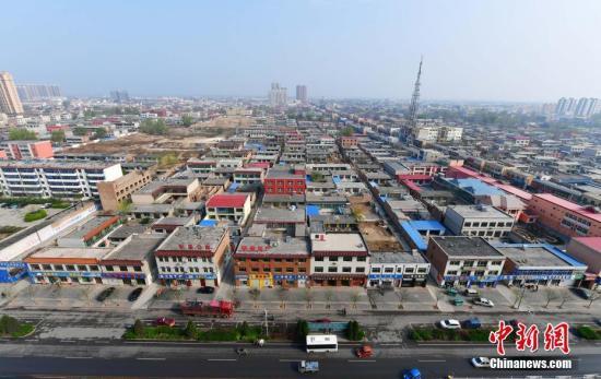 资料图:4月5日,从高空俯瞰河北容城。 <a target='_blank' href='http://www.chinanews.com/' _fcksavedurl='http://www.chinanews.com/'></table>中新社</a>记者 翟羽佳 摄