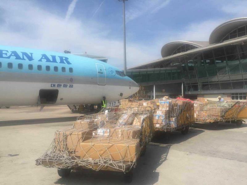 青岛机场顺利完成703KG鲜活波士顿龙虾保障