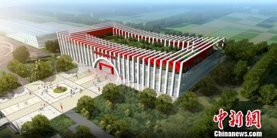 首届中国美食文化节主会场主楼鸟瞰图。主办方供图