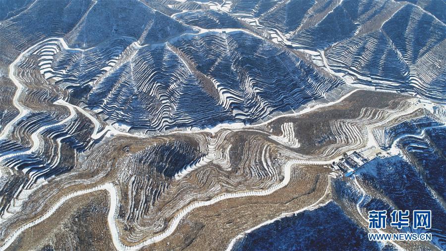 (环境)(1)雪后梯田景如画