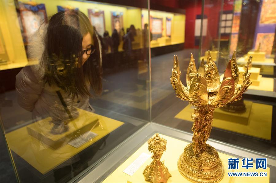 (文化)(1)西藏文物珍品亮相西子湖畔