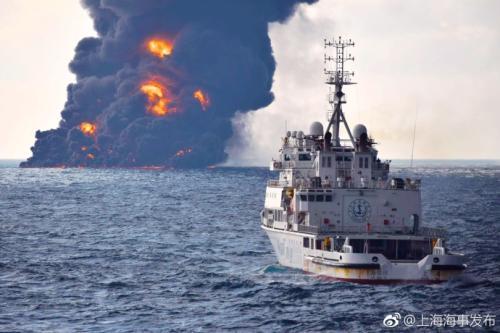 现场。图片来源:上海海事局官方微博。