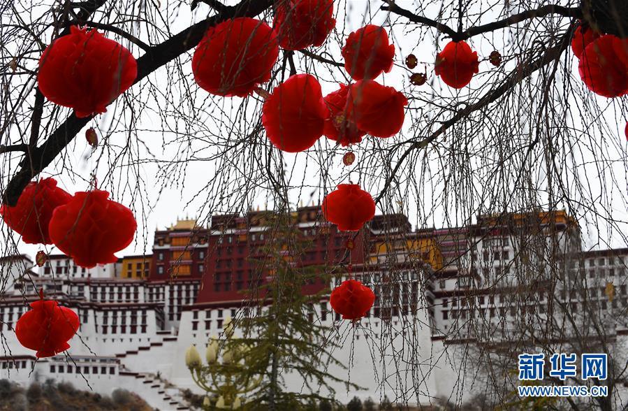 (社会)(1)布达拉宫广场盛装迎接新年