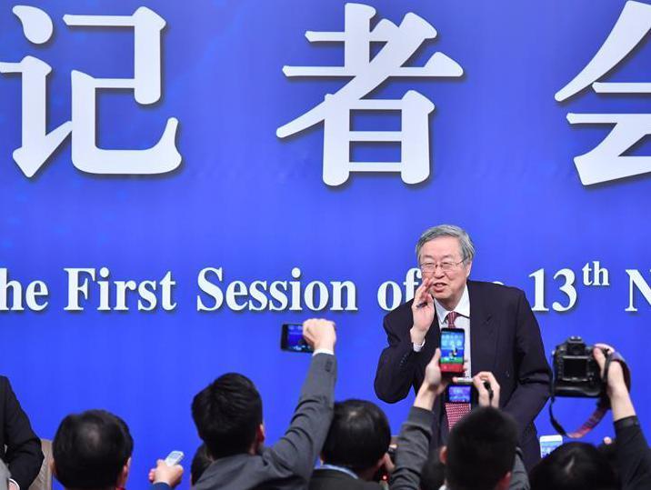 """(两会・XHDW)(12)中国人民银行行长周小川等就""""金融改革与发展""""答记者问"""