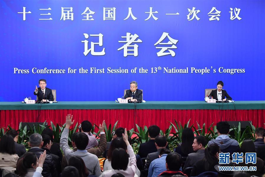"""(两会・XHDW)(1)教育部部长陈宝生就""""努力让每个孩子都能享有公平而有质量的教育""""答记者问"""