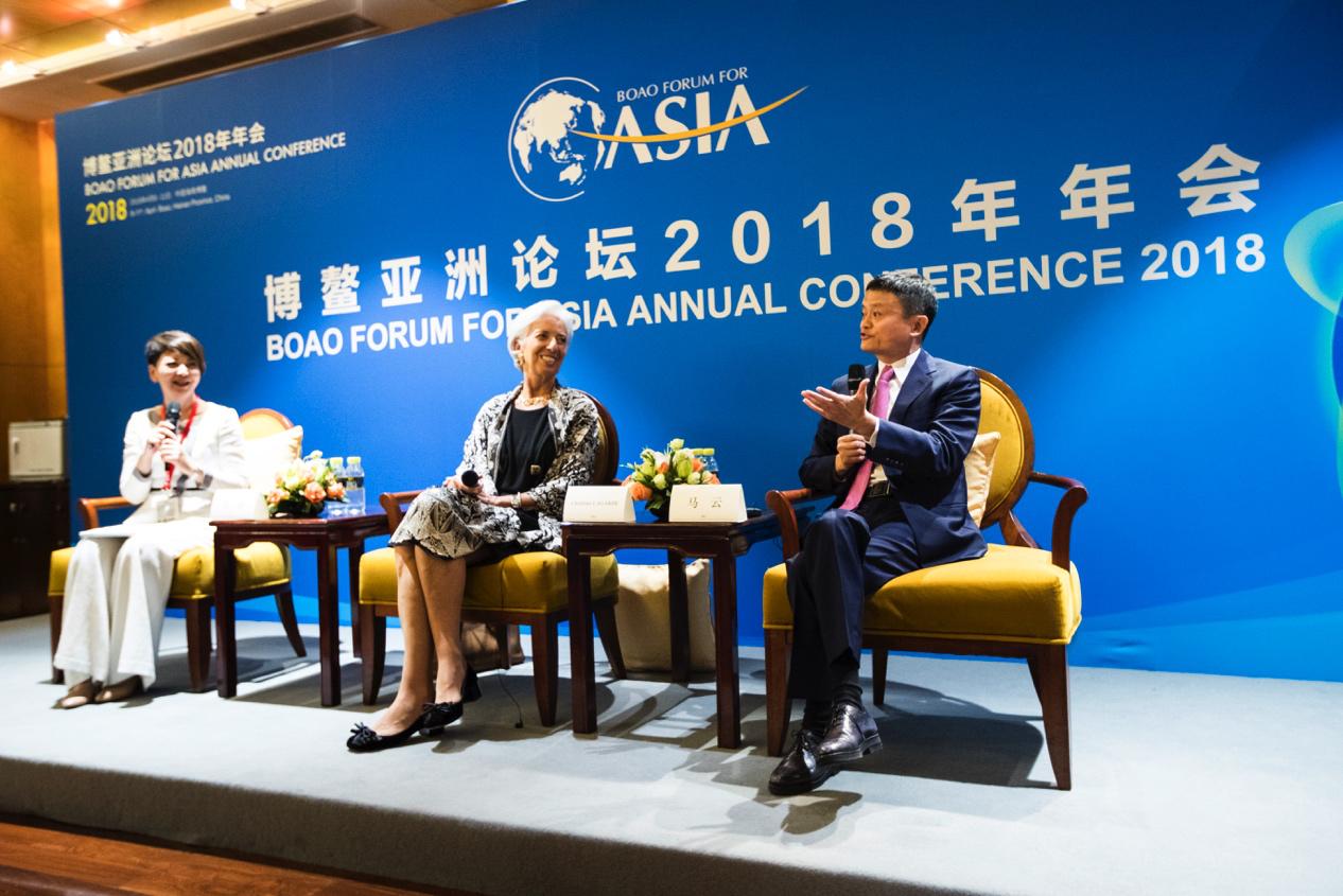 金沙娱乐平台官网:马云对话IMF总裁拉加德:贸易战绝不是问题解决办法