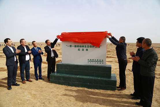 """绿森林助力""""一带一路胡杨林生态保护工程""""揭牌仪式启动"""