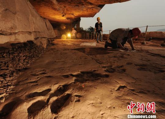 重庆綦江国家地质公园开园存有世界最大古鸟足迹