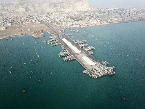 ▲2018年1月29日拍摄的位于巴基斯坦西南部的瓜达尔港。