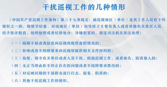 干扰巡视工作的几种情形(1)