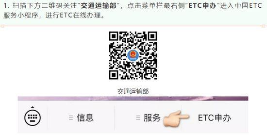 中国ETC服务平台上线:线上免费办理、线下送货上门