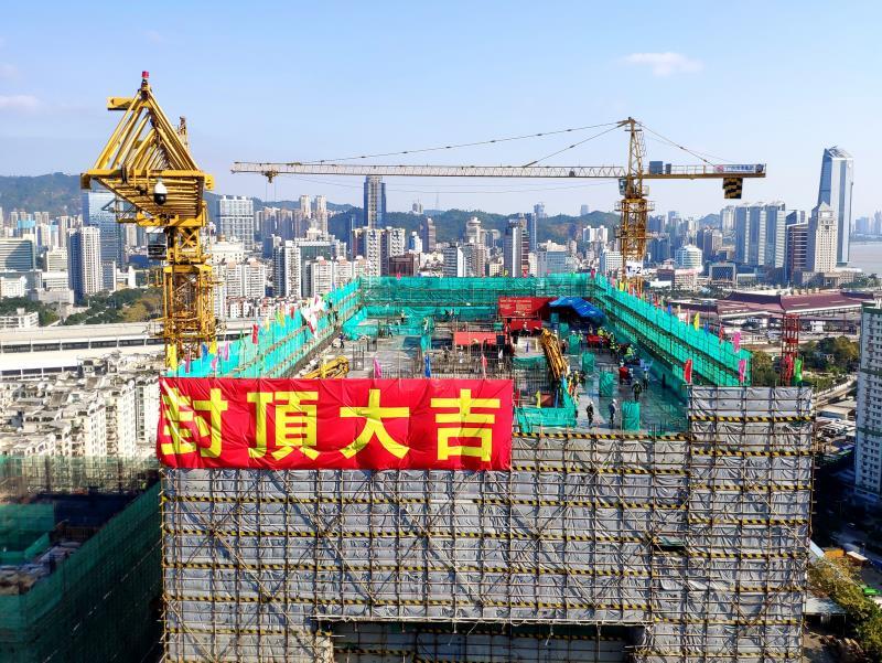 粤澳新通道(青茂口岸)主体结构工程顺利完工