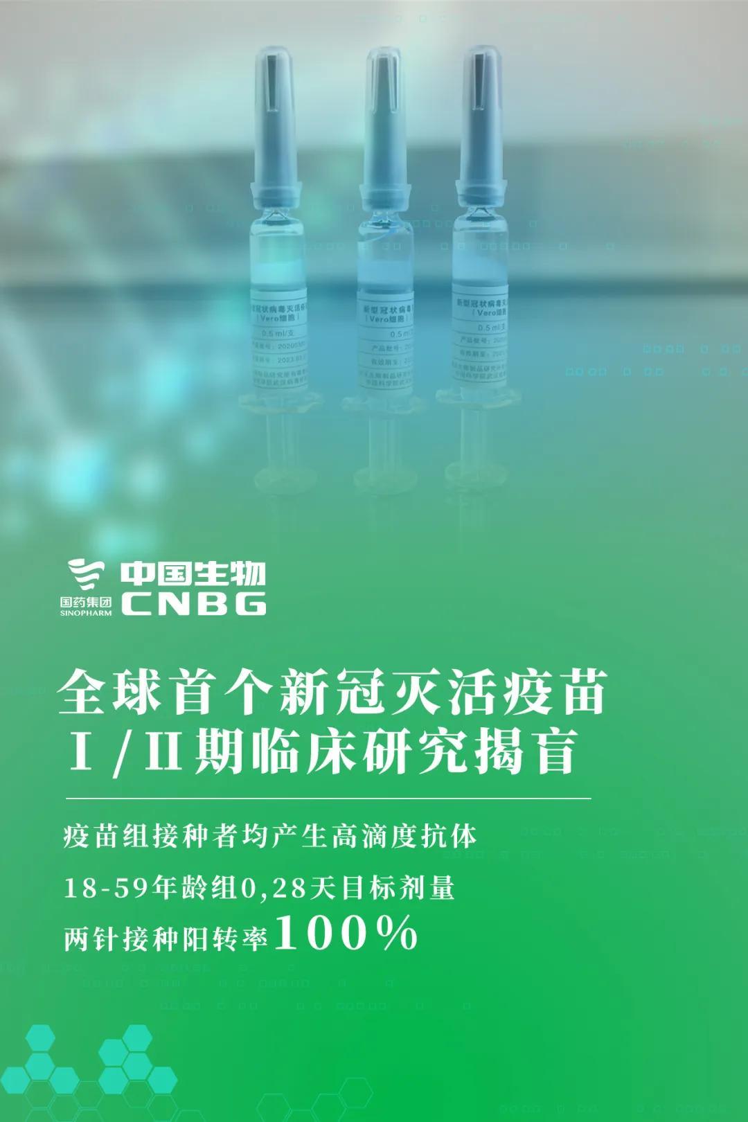 中和抗体阳转率100%!全球首个新冠灭活疫苗所有受试者全部产生抗体!