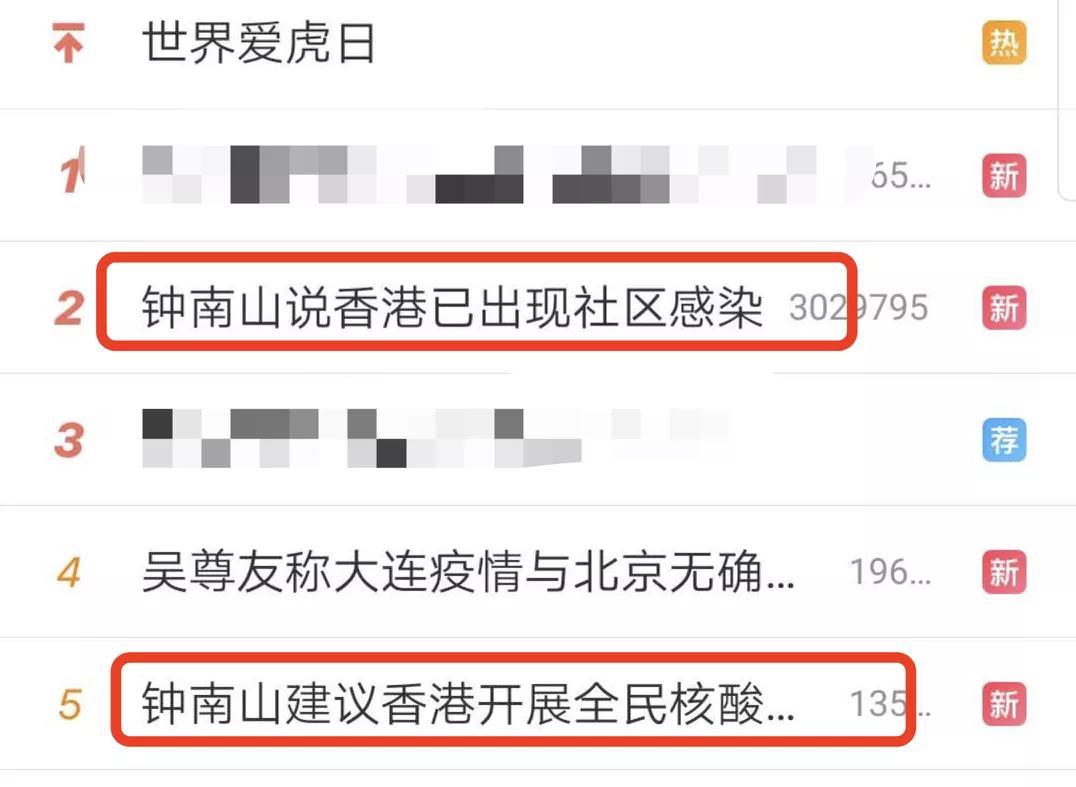 香港疫情反弹,钟南山这条建议上热搜
