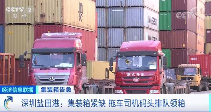 外贸复苏加速 海运市场集装箱紧缺现象是否有所好转