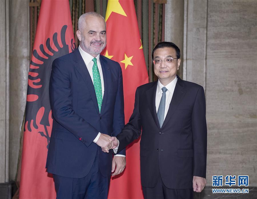 (时政)李克强会见阿尔巴尼亚总理拉马
