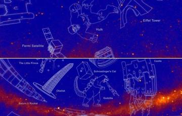 """NASA命名新星座 哥斯拉、绿巨人都""""上天""""(图)"""
