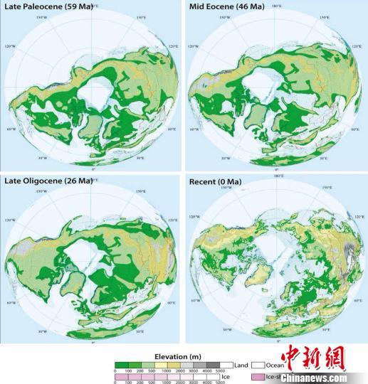 科研人员发现欧亚、北美大陆之间存在不对称量级生物扩散