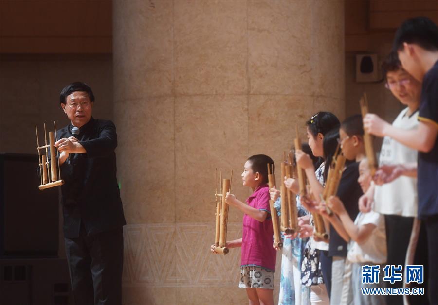 (文化)(1)绿色竹乐音乐会在京举行