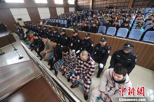 """2月5日,""""黑老大""""欧阳文明被判处有期徒刑15年。法院供图"""