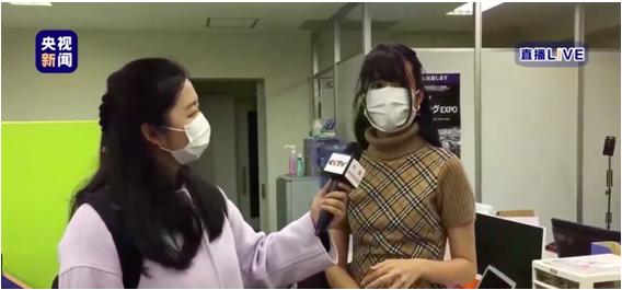 日本女孩街头献唱感谢中国 献唱《等你凯旋》网络走红
