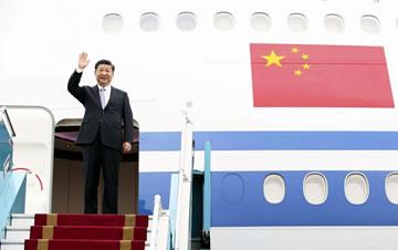 习近平抵达河内开始对越南进行国事访问