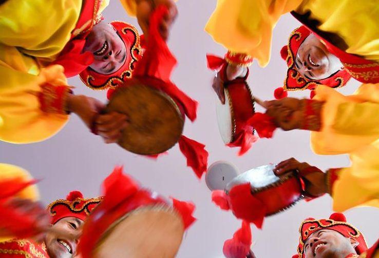 山东商河鼓子秧歌将扭进瑞典欢乐闹春节