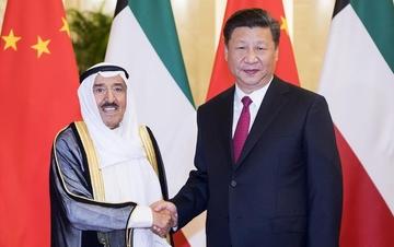 习近平同科威特埃米尔举行会谈