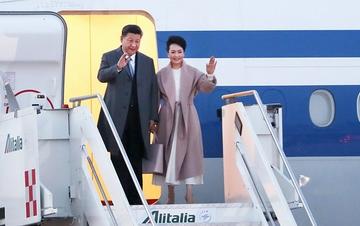 习近平抵达罗马开始对意大利共和国进行国事访问