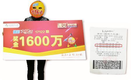 买彩票中1600万 中奖者现身寻子