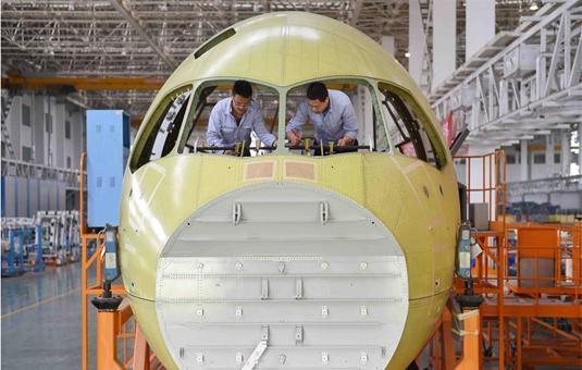 探秘c919国产大飞机机头生产线(组图)