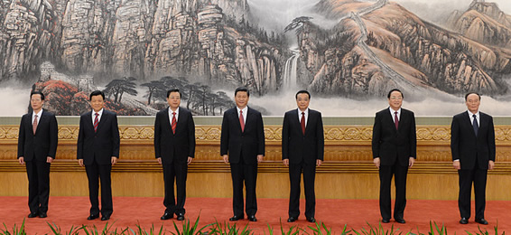 新一届中央政治局常委同中外记者见面