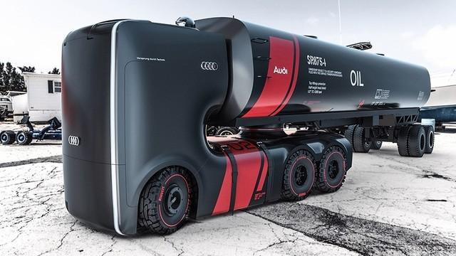 未来感十足 奥迪用跑车思路打造概念卡车