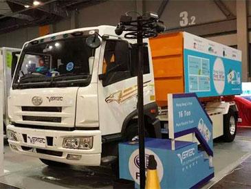一汽解放纯电动产品亮相香港国际环保博览会