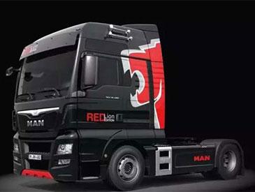 基于欧六排放 MAN推出红狮特别版牵引车