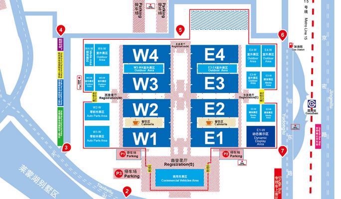 中国国际展览中心新馆(天竺)平面图