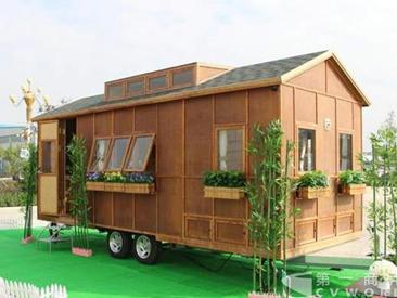 中通送彩金500的网站大白菜全球首款竹钢房车上市