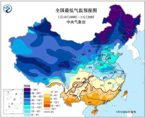 寒潮黄色预警继续发布:内蒙古东北局地降温10℃以上