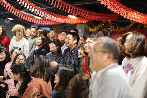 中关村创客小镇的一场年会正在彩排 《中国经济周刊》记者 胡巍 摄