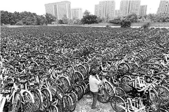 """杭州数万共享单车""""休眠""""  有的待岗有的外调"""