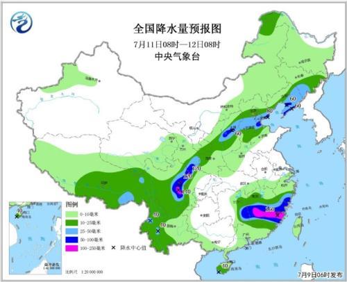 """台风""""玛莉亚""""向台湾靠近 南方多分散性强降水"""