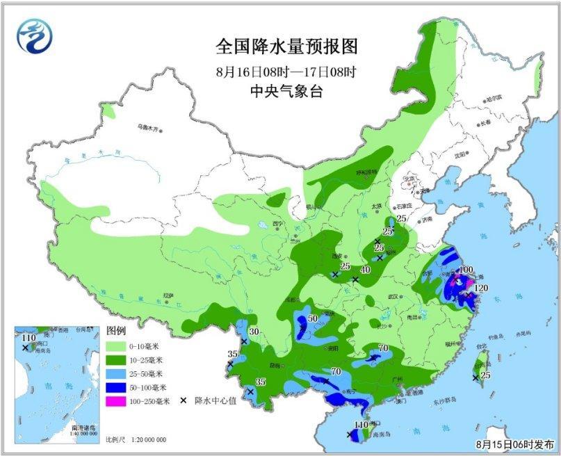 """台风""""贝碧嘉""""将登陆华南南部 南方地区高温持续"""