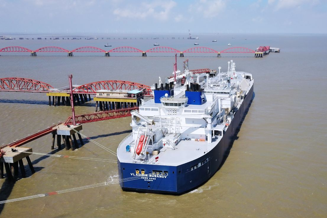LNG from Arctic reaches Jiangsu